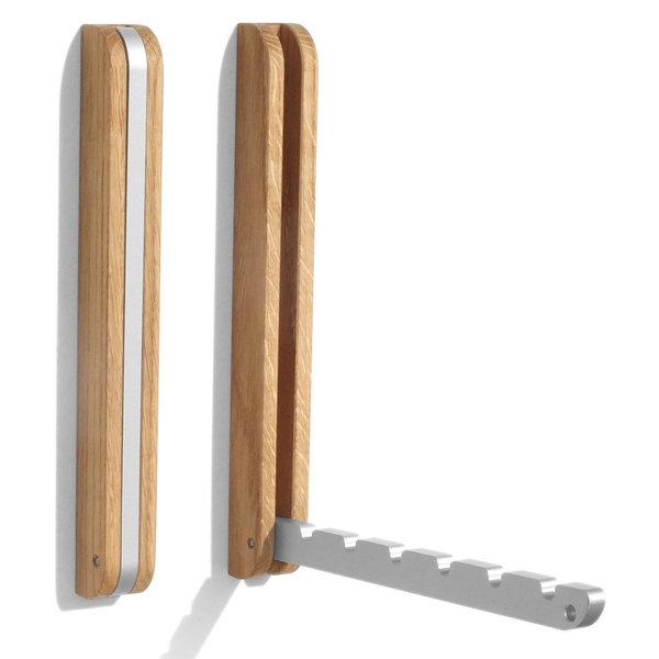 side by side wandhaken eiche - design sabine meyer