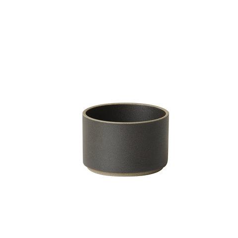 hasami becher/zylindrische schale | Ø 8,5 cm, h 5,5 cm | mattschwarz glasiert