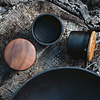 swing gewürzmühle | groß, mit deckel aus walnussholz - design carl & carl