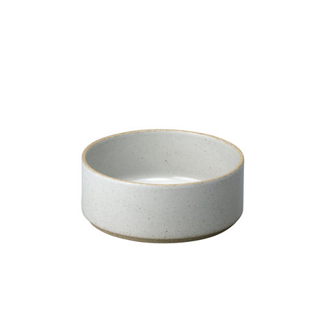 hasami zylindrische schale | Ø 14,5 cm, h 5,5 cm | hellgrau glänzend glasiert