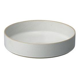 hasami porcelain hasami zylindrische schale | Ø 25,5 cm, h 5,5 cm | hellgrau glänzend glasiert