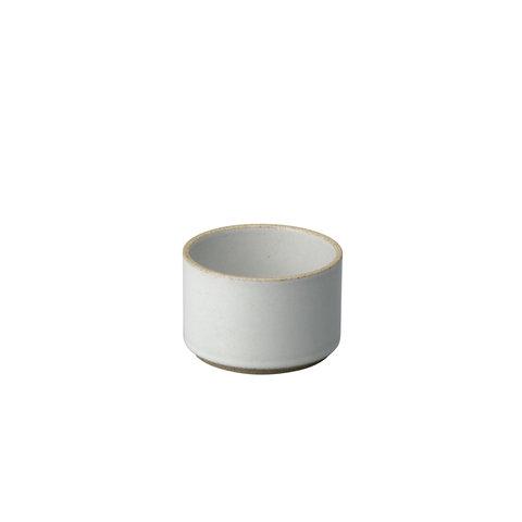 hasami becher/zylindrische schale | Ø 8,5 cm, h 5,5 cm | hellgrau glänzend glasiert