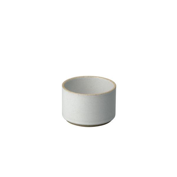 hasami porcelain hasami becher/zylindrische schale | Ø 8,5 cm, h 5,5 cm | hellgrau glänzend glasiert – design takuhiro shinomoto
