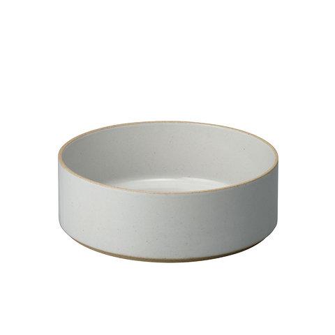 hasami zylindrische schale | Ø 22 cm, h 7,2 cm | hellgrau glänzend glasiert
