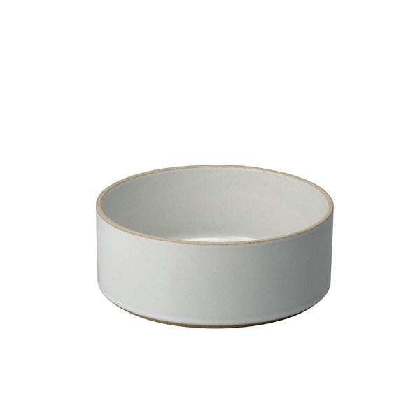 hasami porcelain hasami zylindrische schale | Ø 18,5 cm, h 7,2 cm | hellgrau glänzend glasiert – design takuhiro shinomoto