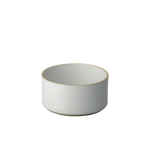hasami zylindrische schale | Ø 14,5 cm, h 7,2 cm | hellgrau glänzend glasiert
