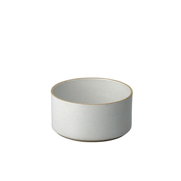 hasami porcelain hasami zylindrische schale | Ø 14,5 cm, h 7,2 cm | hellgrau glänzend glasiert – design takuhiro shinomoto