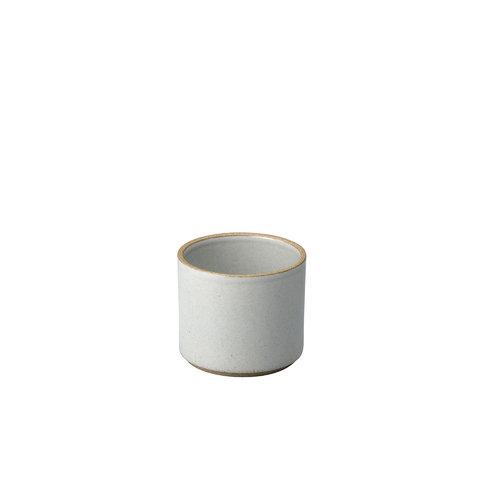 hasami becher/zylindrische schale | Ø 8,5 cm, h 7,2 cm | hellgrau glänzend glasiert