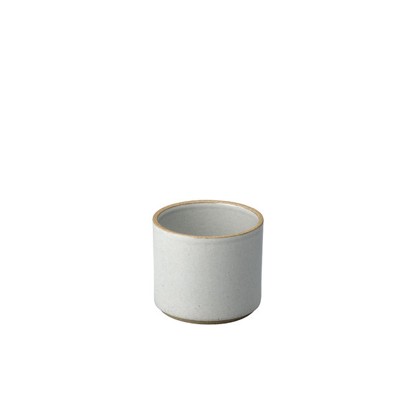 hasami porcelain hasami becher/zylindrische schale | Ø 8,5 cm, h 7,2 cm | hellgrau glänzend glasiert – design takuhiro shinomoto