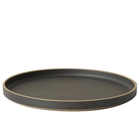 hasami teller/deckel | Ø 25,5 cm | mattschwarz glasiert