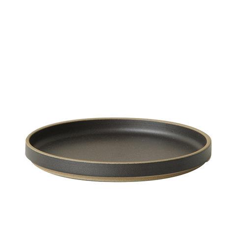 hasami teller/deckel | Ø 18,5 cm | mattschwarz glasiert