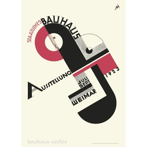 bauhaus poster: joost schmidt - bauhaus-ausstellung 1923