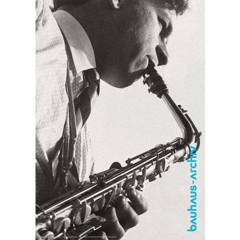 poster: fotografie 'xanti schawinsky am saxophon' von t.lux feininger