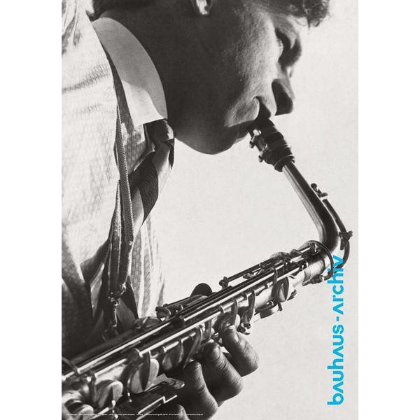 bauhaus-shop poster: fotografie 'xanti schawinsky am saxophon' von t.lux feininger