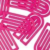 king klips büroklammern | 50mm pink – design kurt lorber