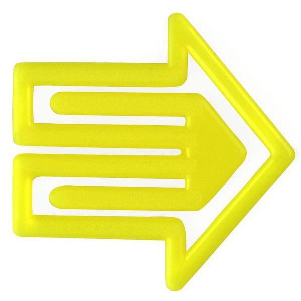 laurel plastiklips | pfeilklip gelb – design kurt lorber