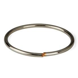 san lorenzo armreifen flexibel silber/kupfer | ø 4 mm