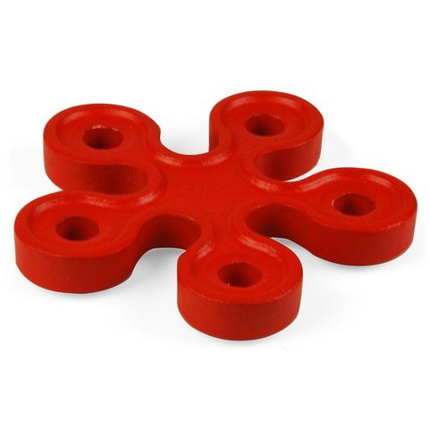 serpentine kerzenleuchter | 5 kerzen rot