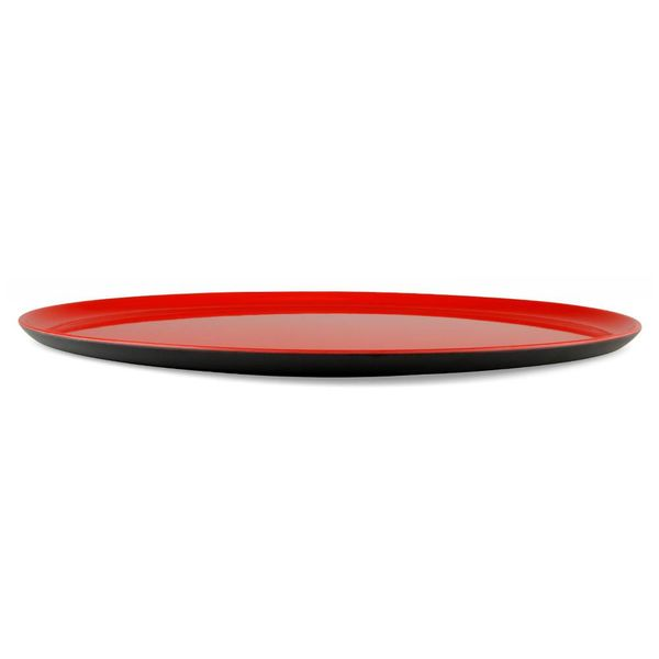 ørskov the tray tablett | ø 37 cm, schwarz/rot – design jørgen møller + nanna skibsted