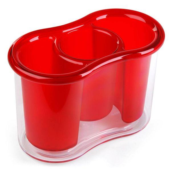 guzzini besteckkorb rot – design shin + tomoko azumi + g. pezzini