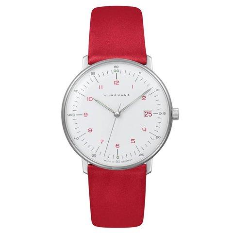 armbanduhr max bill | ø 32,7 mm, quarzuhrwerk, zahlenblatt weiß