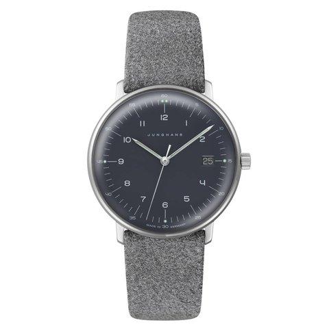 armbanduhr max bill | ø 38 mm, quarzuhrwerk, zahlenblatt schwarz