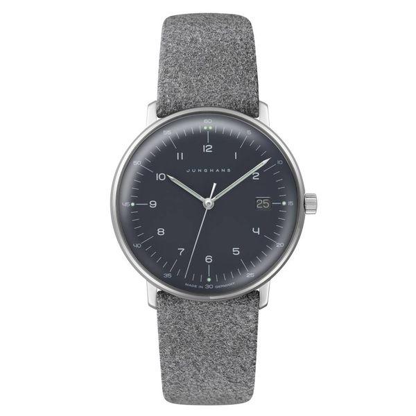junghans armbanduhr max bill | ø 32,7 mm, quarzwerk, zahlenblatt schwarz