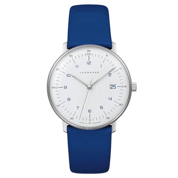 junghans armbanduhr max bill | ø 32,7 mm, quarzuhrwerk, zahlenblatt weiss