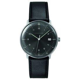 junghans armbanduhr max bill | ø 38 mm, quarzuhrwerk, zahlenblatt grauschwarz