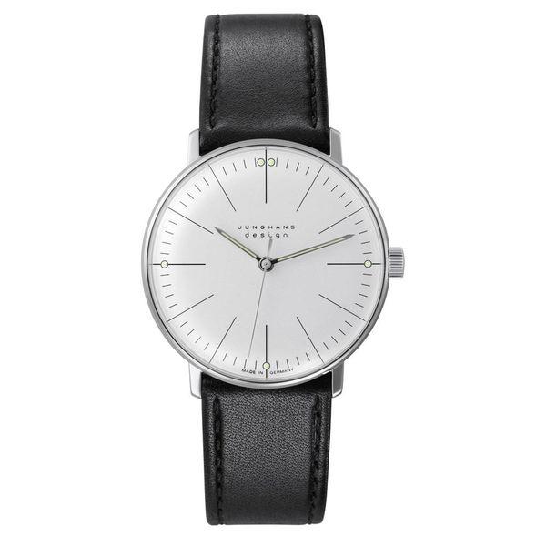 junghans armbanduhr max bill | ø 34 mm, handaufzug, strichblatt weiß
