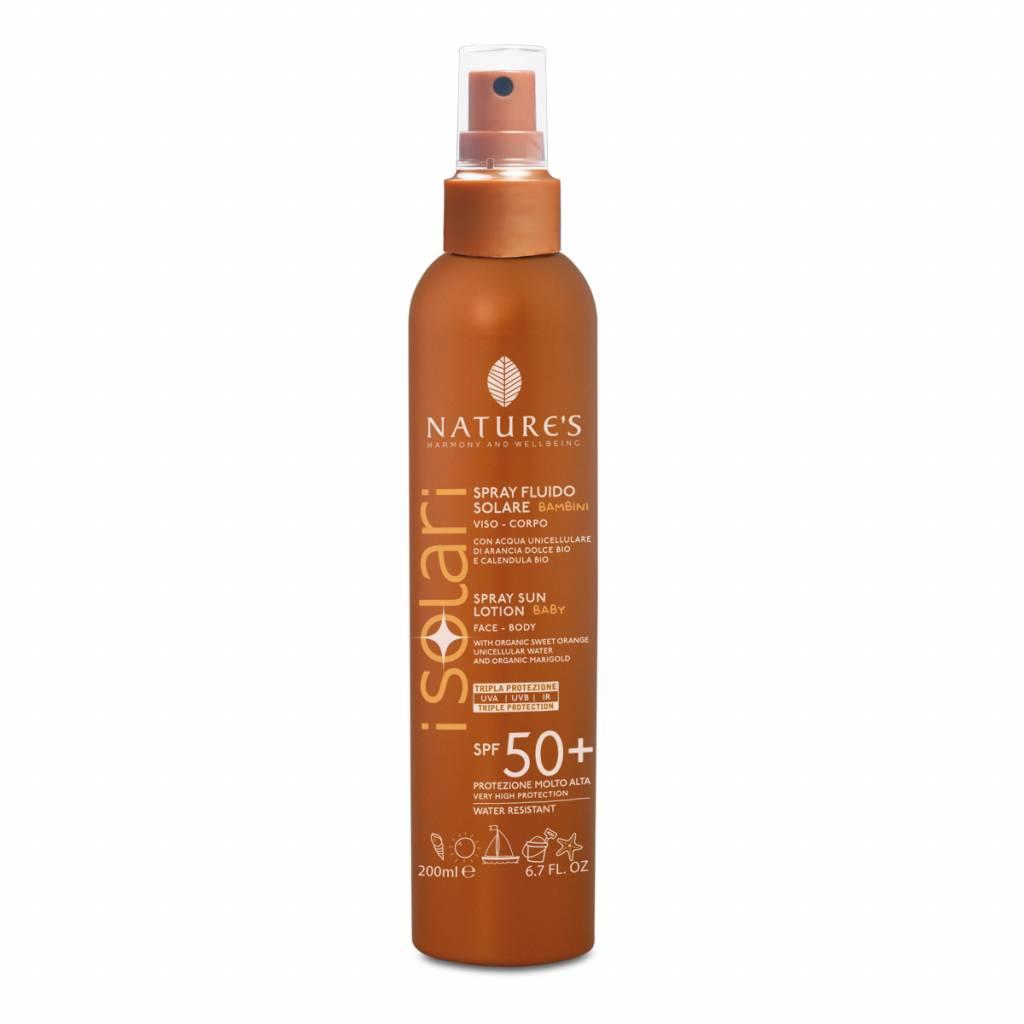 Nature's Zonnebrandspray voor kids SPF 50+