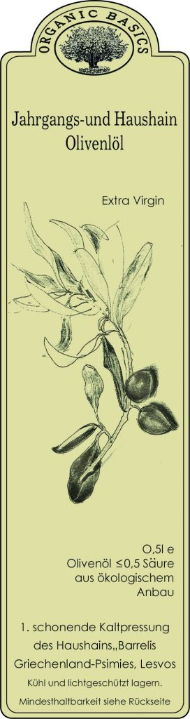 Organic Basics Biologische extra vergine olijfolie uit Lesbos, Griekenland