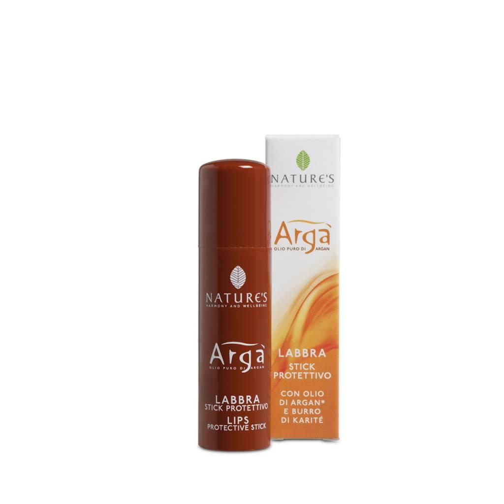Nature's Lippenbalsem met Argan olie - stick