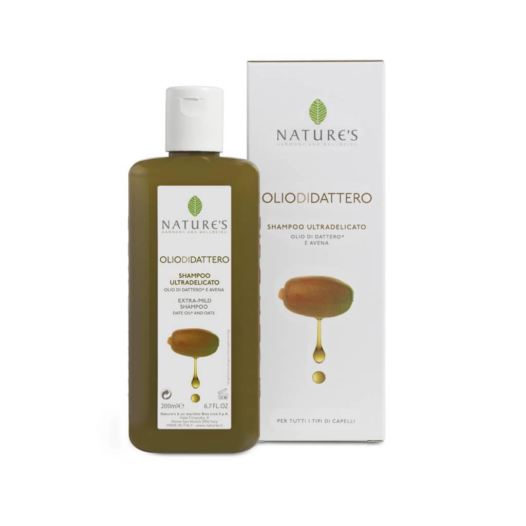 Nature's Shampoo voor gevoelige haren met dadelolie en haver