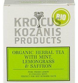 Krocus Kozanis Saffraan thee met munt en citroengras