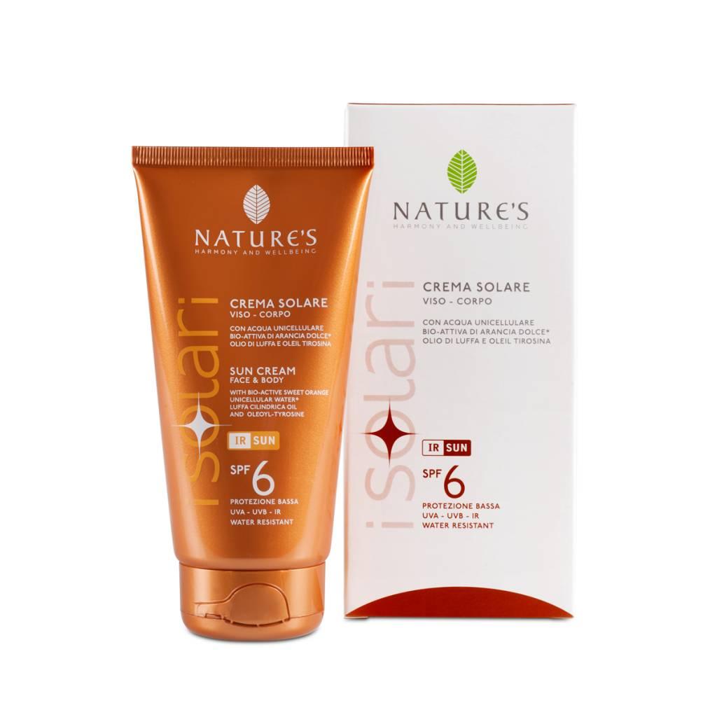 Nature's Zonnebrandcrème voor lichaam en gezicht SPF 6