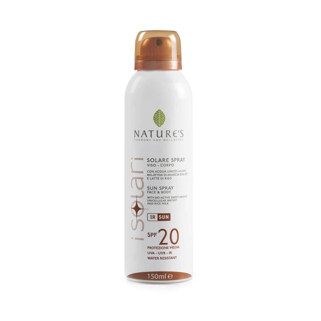 Nature's Zonnebrandspray voor gezicht en lichaam SPF 20