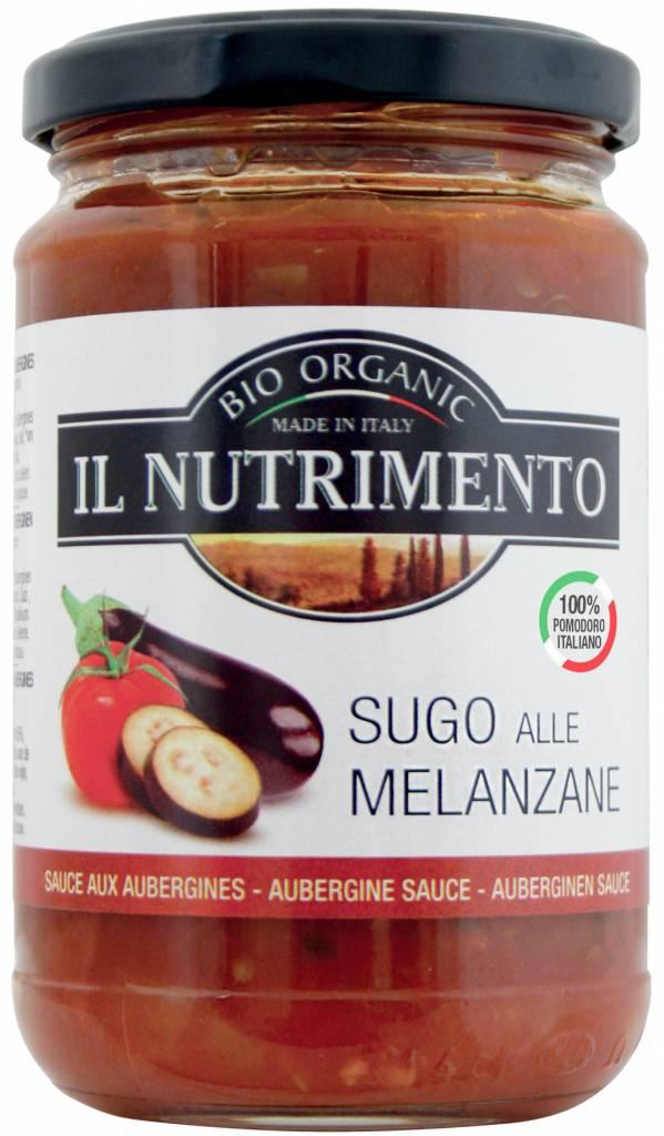 Il Nutrimento Tomatensaus met aubergine - glutenvrij