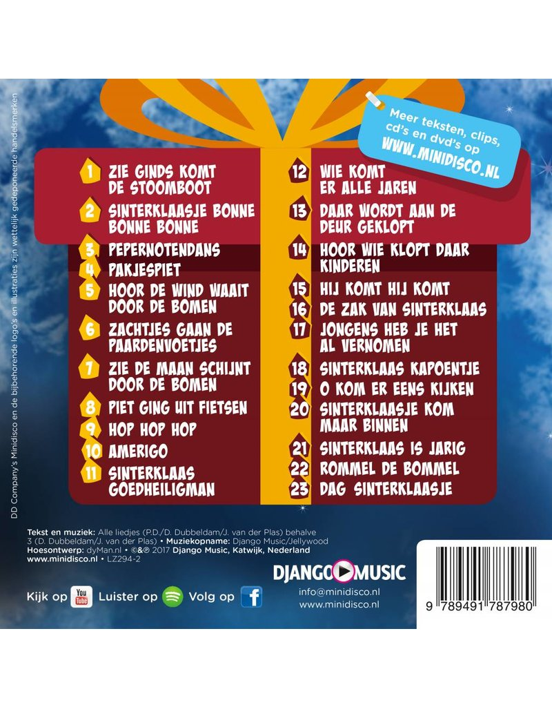 Minidisco - Zie Ginds Komt De Stoomboot - Sinterklaas op USB