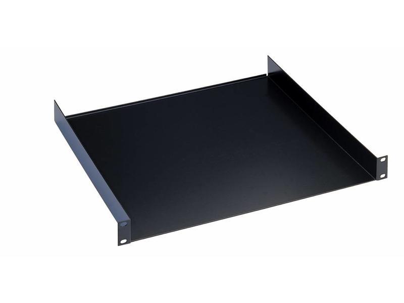 """K̦nig & Meyer 19"""" Rack shelf black 1HE 30cm"""