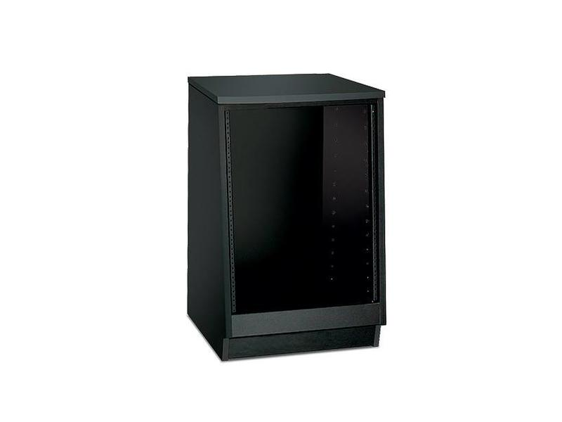 Argosy Spire 7141, 14 Space Rack Unit, Black Melamine