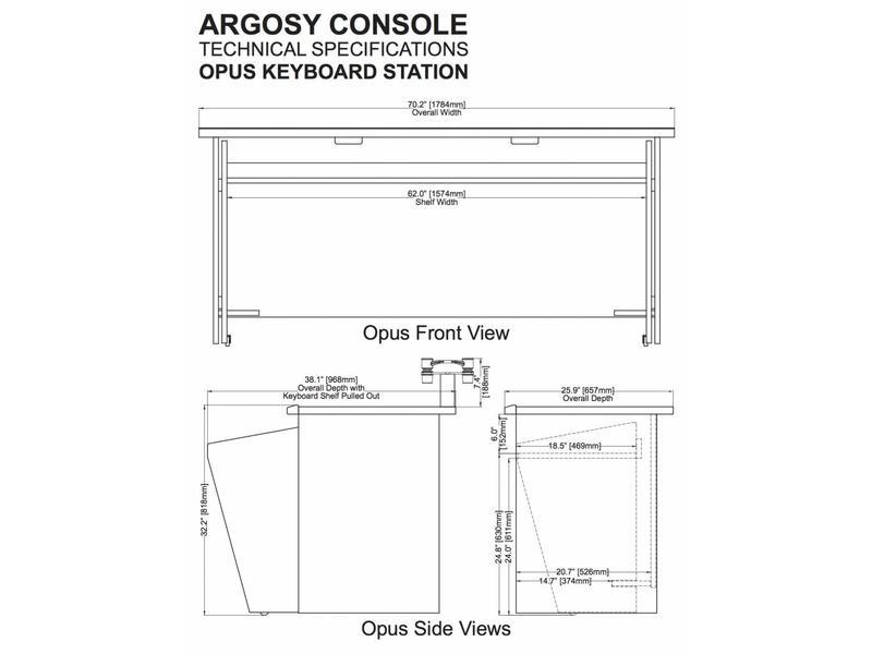 Argosy Opus 88, Black Top, Cherry Trim