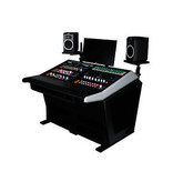 Sterling modular Plan A - Audio Mastering Console with thermafoil silver sides and vinyl desktop