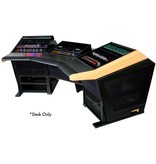 Sterling modular Plan E - Audio Mastering Console with thermafoil silver sides and vinyl desktop