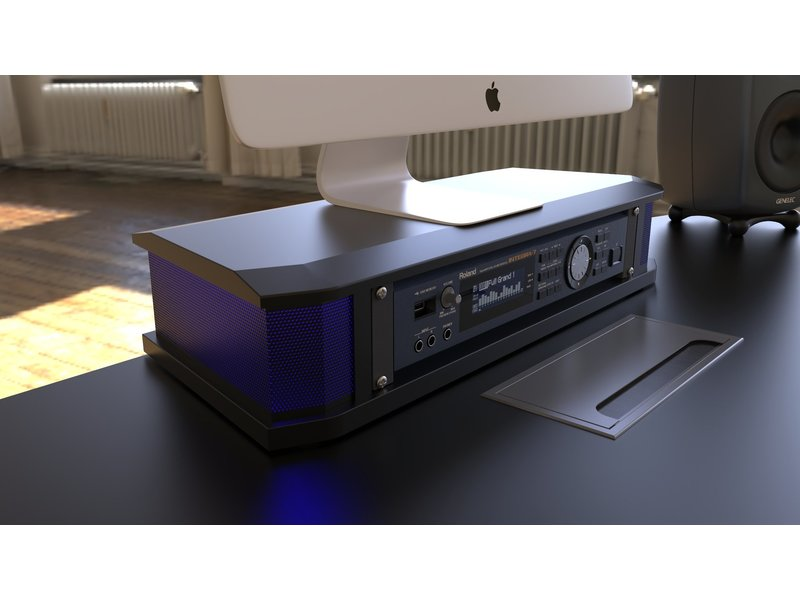 StudioDesk Orbit Desk Bundle + 3 x 2U racks + 88 key drawer Bundle