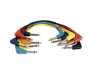 DAP Audio Mono Patch Cable 90cm - hooked  Connector Six Colour Pack