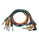 DAP Audio Patchkabel 30cm Gebalanceerd   -  Connectoren Recht en Haaks Zes Kleuren Set