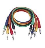DAP Audio Patchkabel 30cm Gebalanceerd - Connectoren Zes Kleuren Set