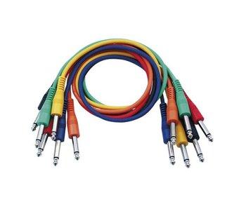 DAP Audio Patchkabel 60cm Ongebelanceerd  - Connectoren Zes Kleuren Set