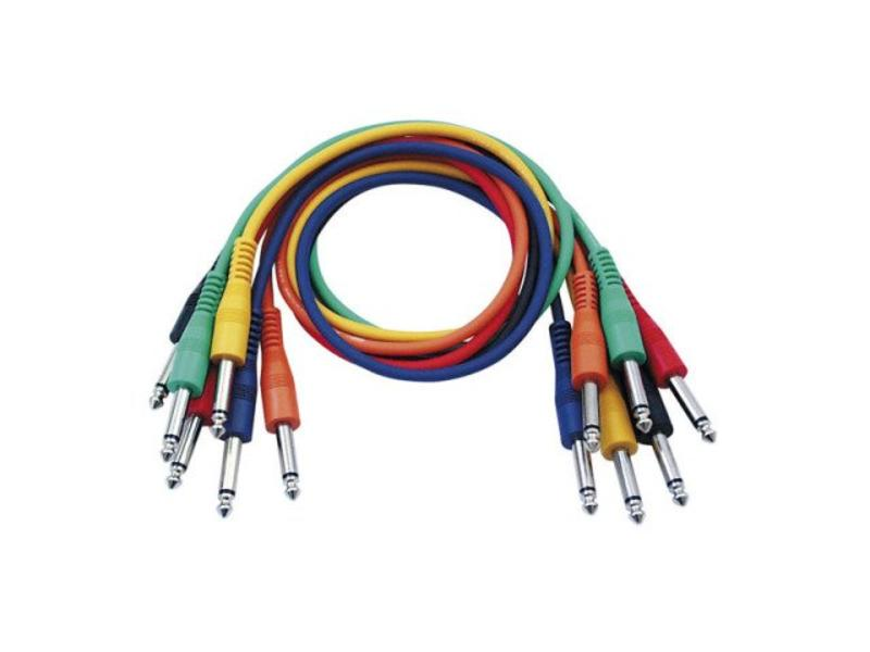 DAP Audio Patchkabel 30cm Ongebelanceerd  - Connectoren Zes Kleuren Set